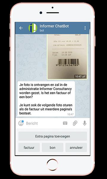 Inkoopfacturen uploaden naar de online boekhouding via de app