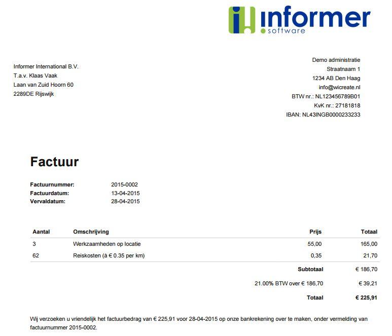 Periodieke facturen   InformerOnline