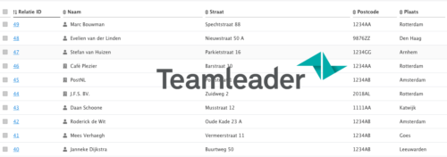 Al je Teamleader contacten realtime in je administratie