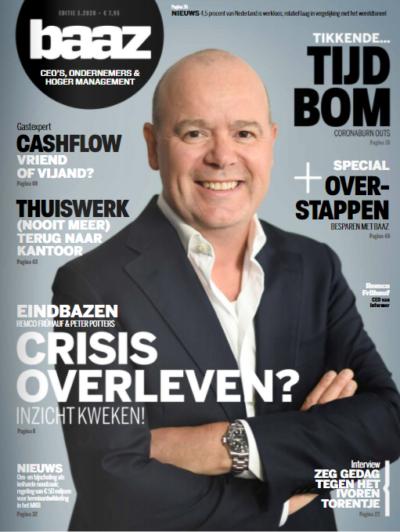CEO Remco op de cover van MKB Baaz