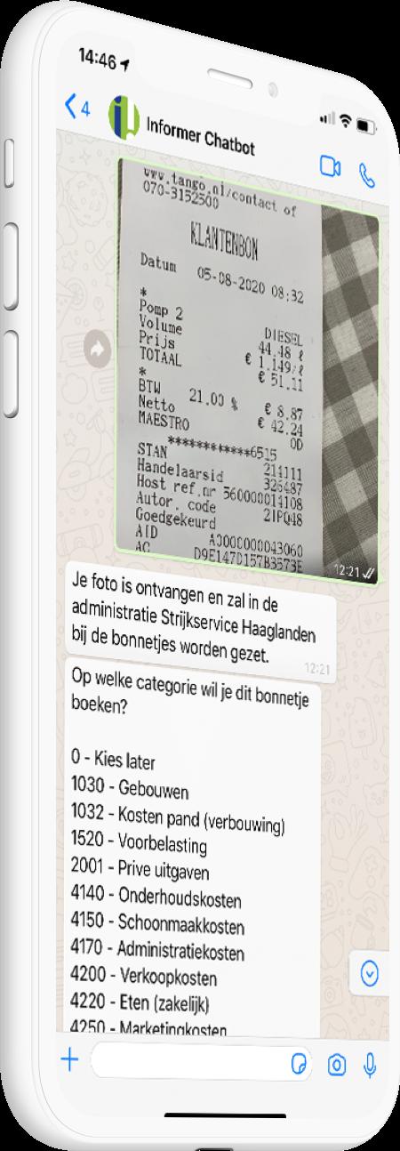 Whatsapp met je boekhouding