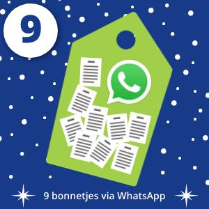 Dag 9 9 bonnetjes via WhatsApp verstuurd