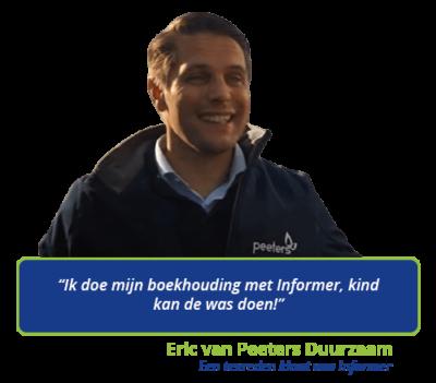 Eric is een tevreden klant van gratis boekhoudprogramma Informer