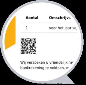 Facturen betaald met QR code