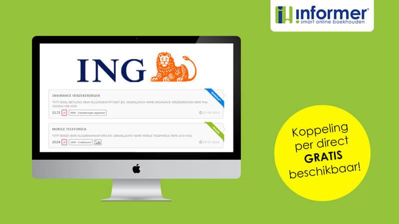 Gratis Boekhoudkoppeling ING Bank