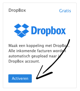 Gratis dropbox activeren