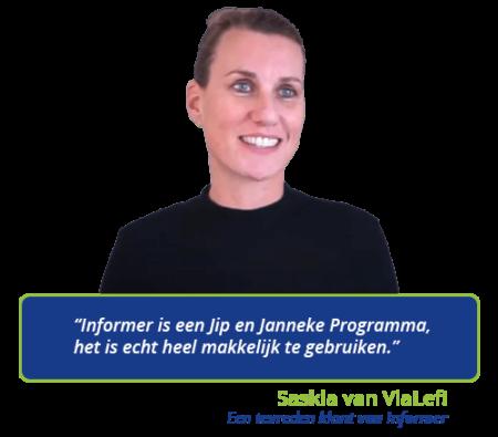 Saskia vindt Informer een eenvoudig boekhoudprogramma
