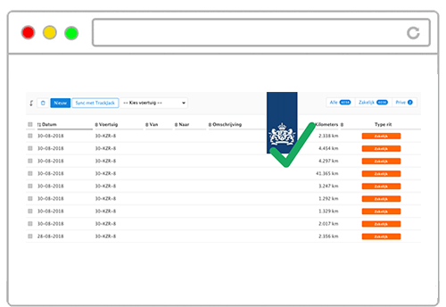 TrackJack voldoet aan eisen Belastingdienst