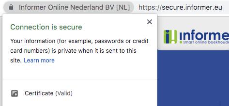 Veilige connectie met ssl certificaat