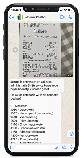 Verwerk inkoopfacturen via WhatsApp