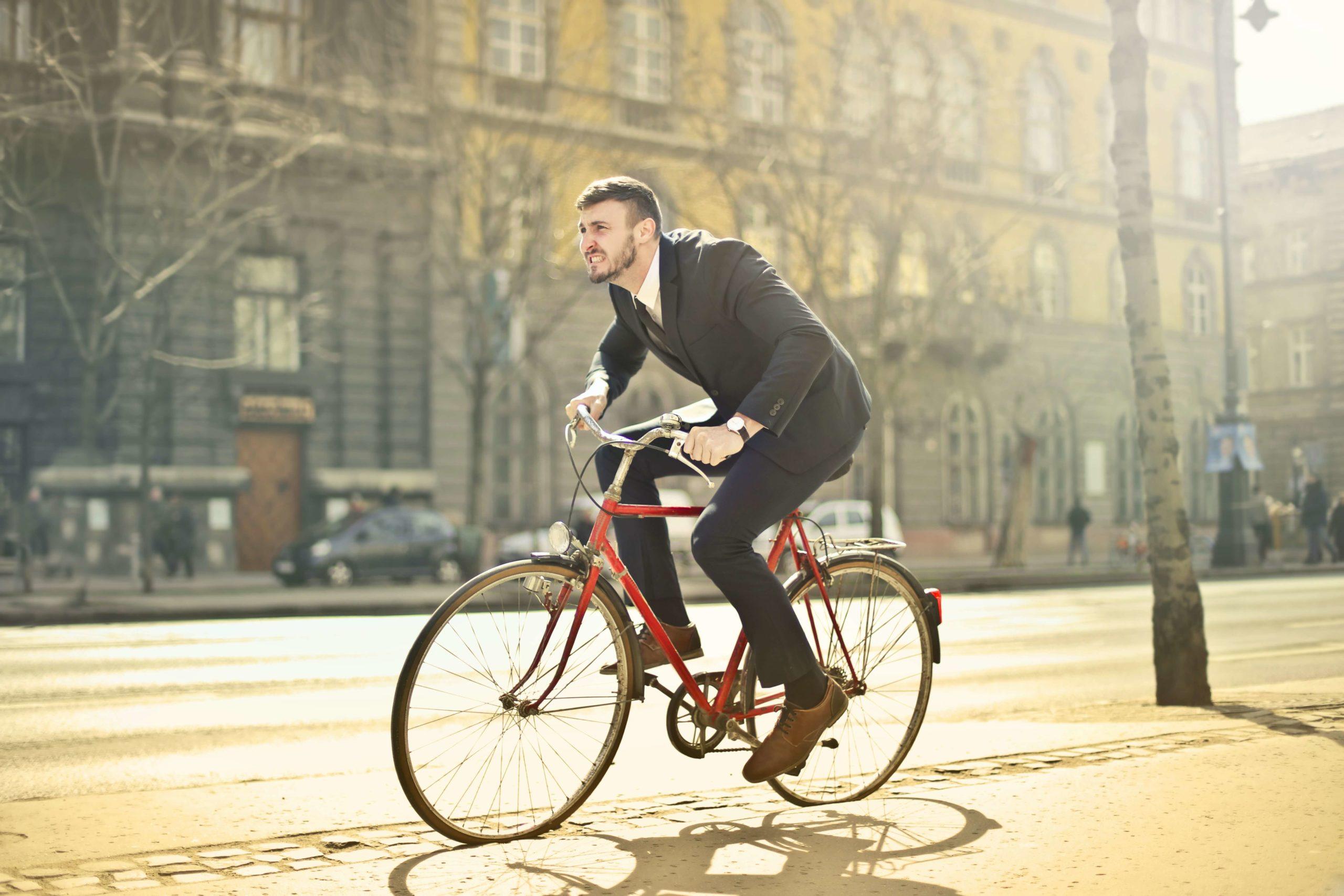 fiets van de zaak